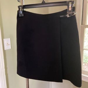 Bebe Black Wrap Mini Skirt